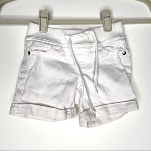 Justice white jean shorts
